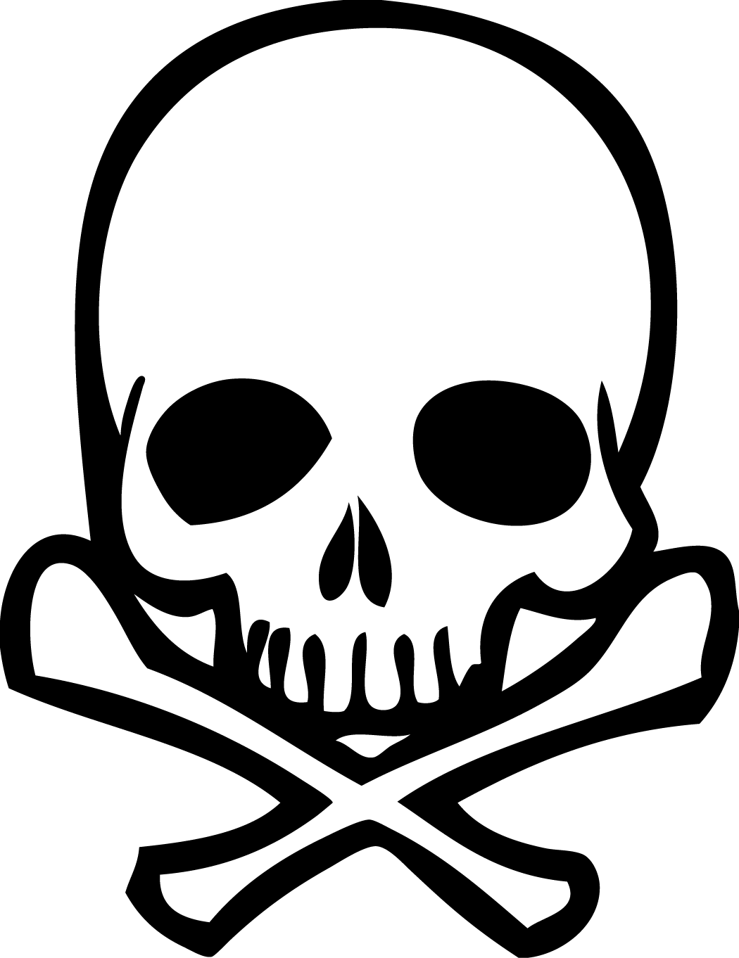 Skull And Crossbones Drawing - ClipArt Best Skull And Cross Drawing