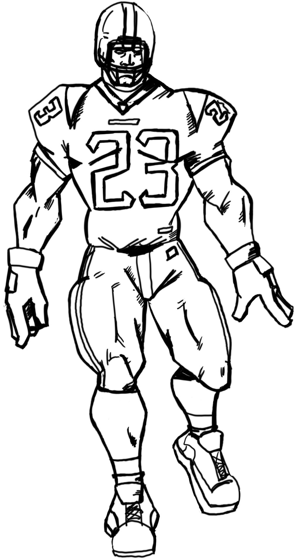 Line Drawing Football : Line drawings of football players images