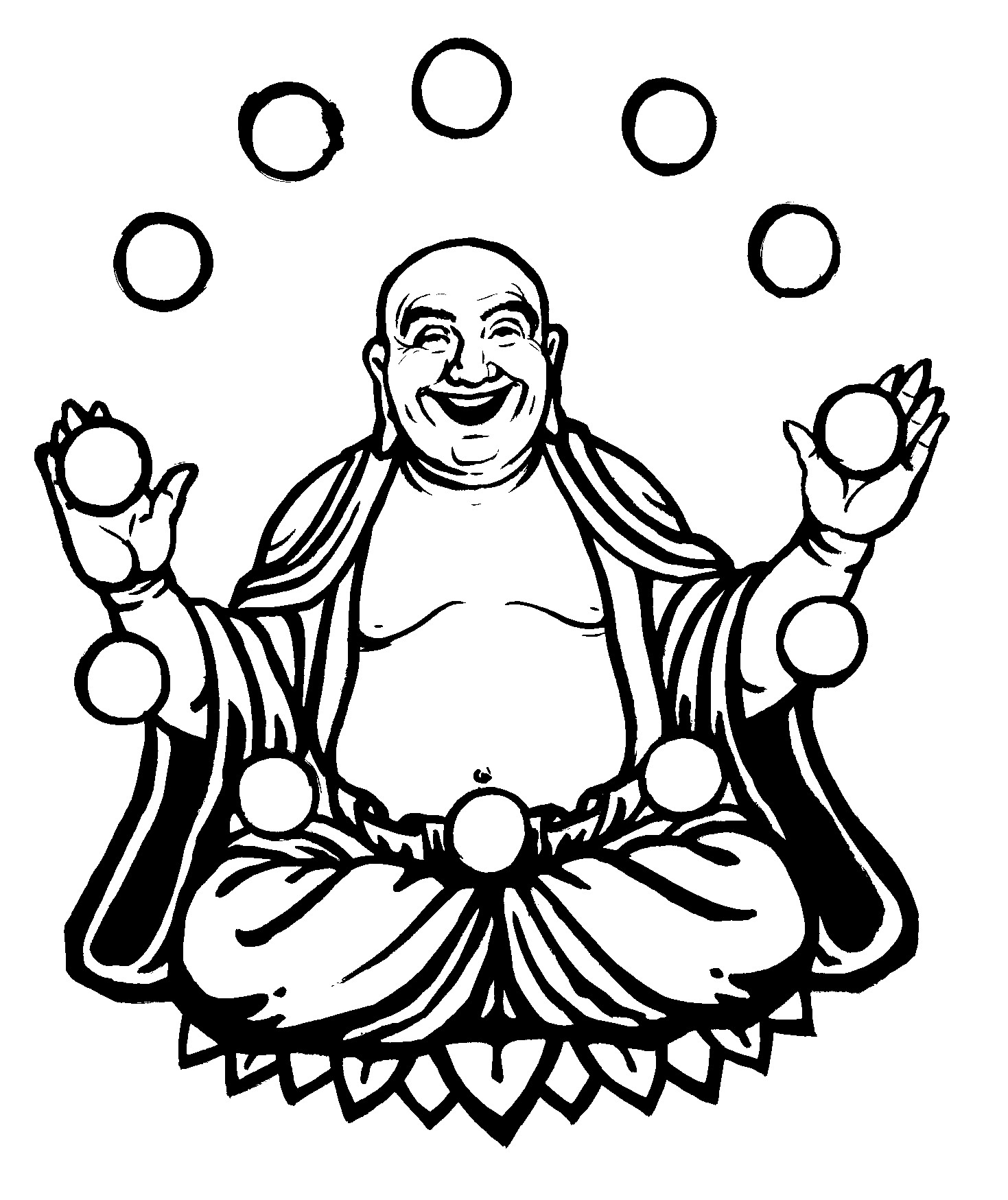 Simple Buddha Drawing - ClipArt Best