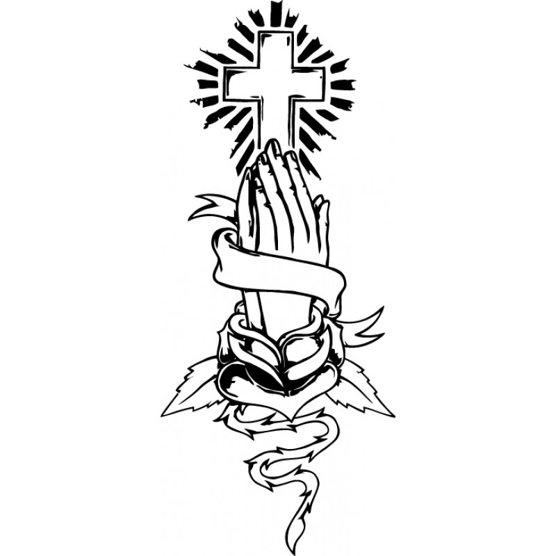 Crosses With Praying Hands ClipArt Best