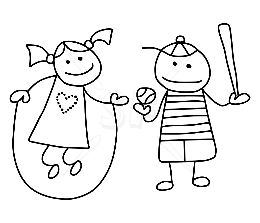 stick figures coloring pages - photo#3