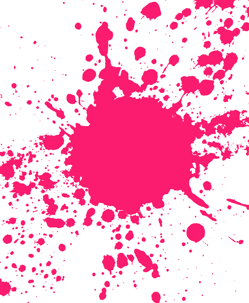 Pink Splatter Paint Clipart Best