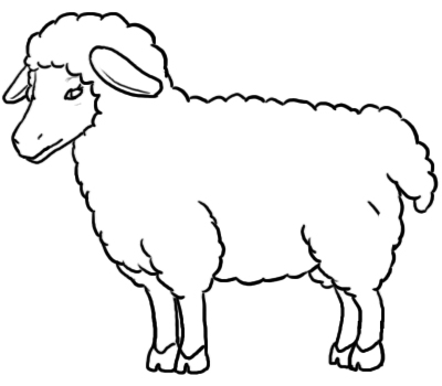 Sheep Line Drawing - ClipArt Best