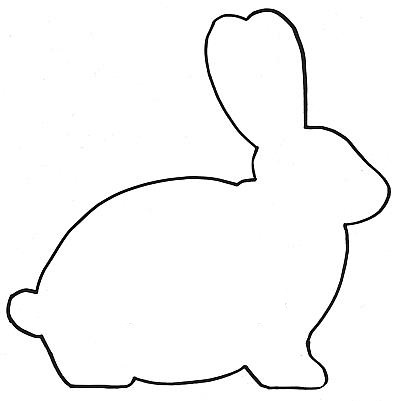 Easter Bunny Outline - ClipArt Best
