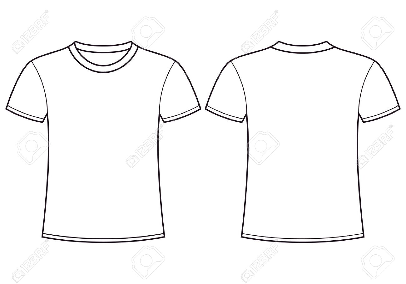 plain white t shirt front and back clipart best. Black Bedroom Furniture Sets. Home Design Ideas