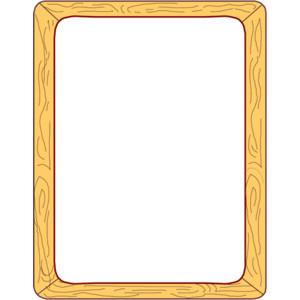 Wood Frame Border Clip Art or Page Frame - Polyvore