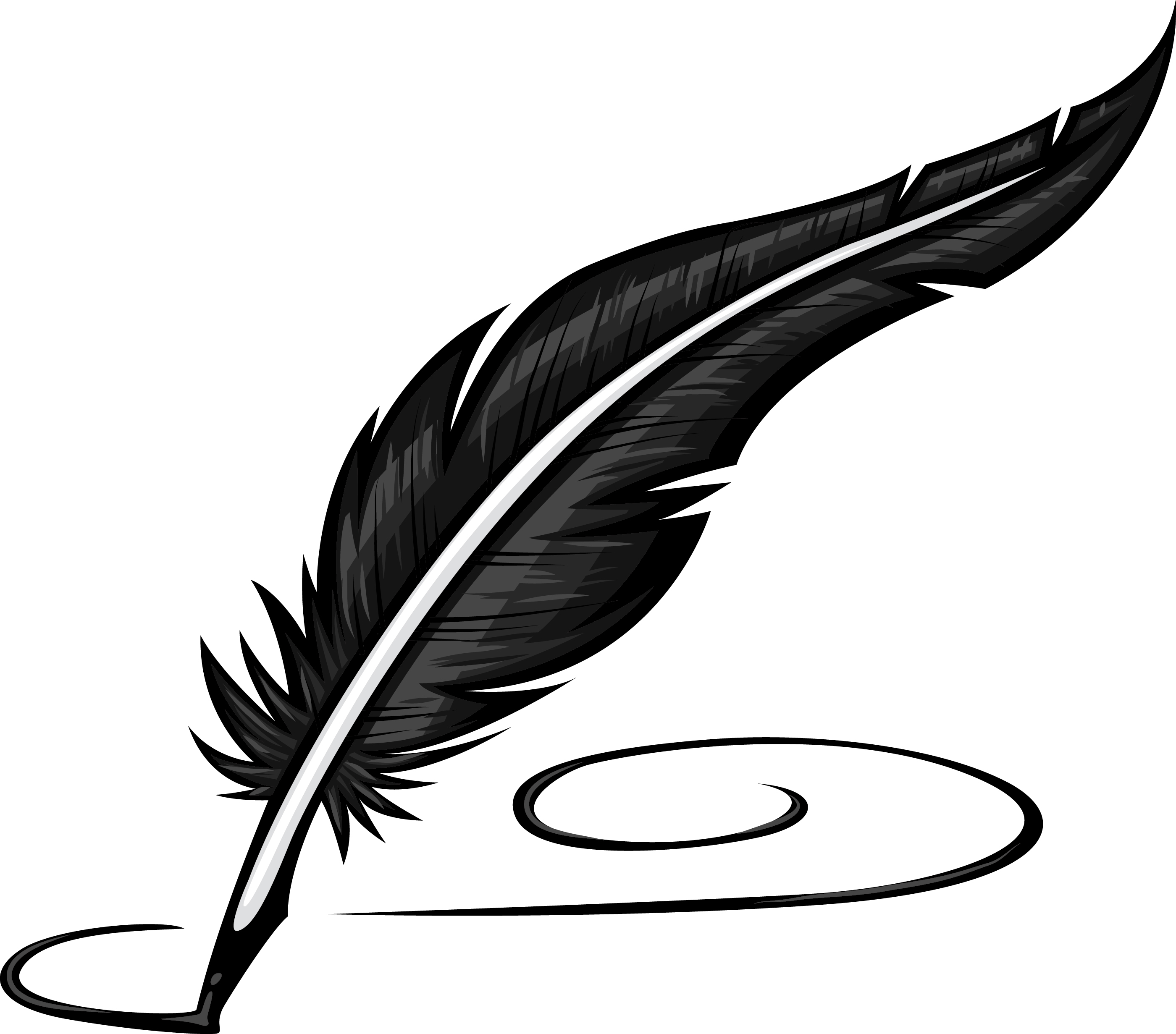 Line Drawing Of Quill : Quill clipart best