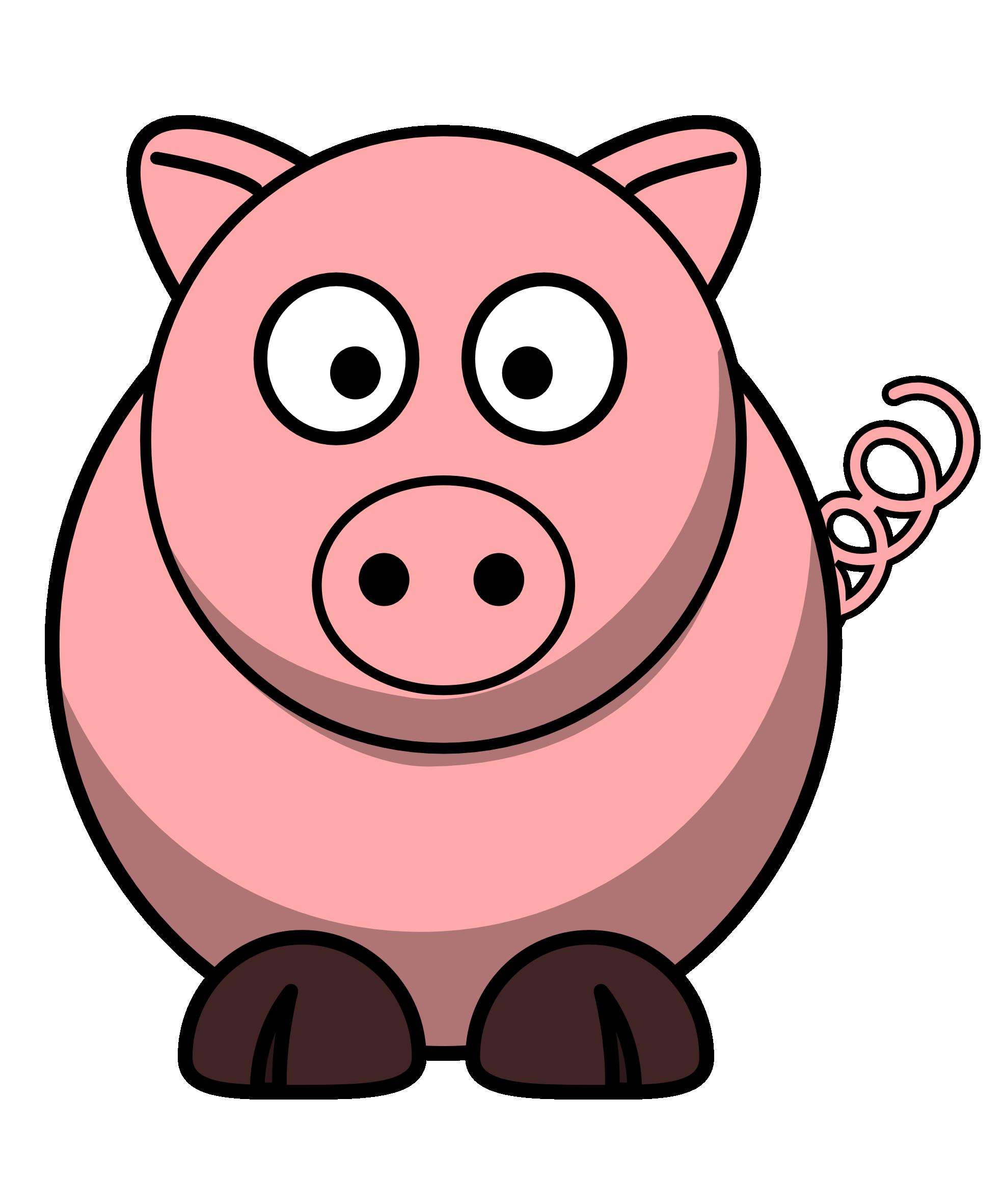 Pig Round Christmas Xmas Stuffed Animal Coloring Book ...