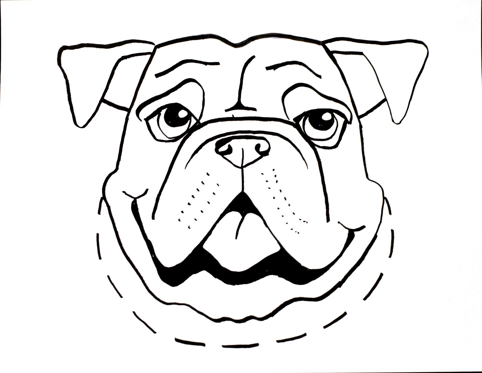 Line Drawing Animal Face : Line drawings of dogs clipart best