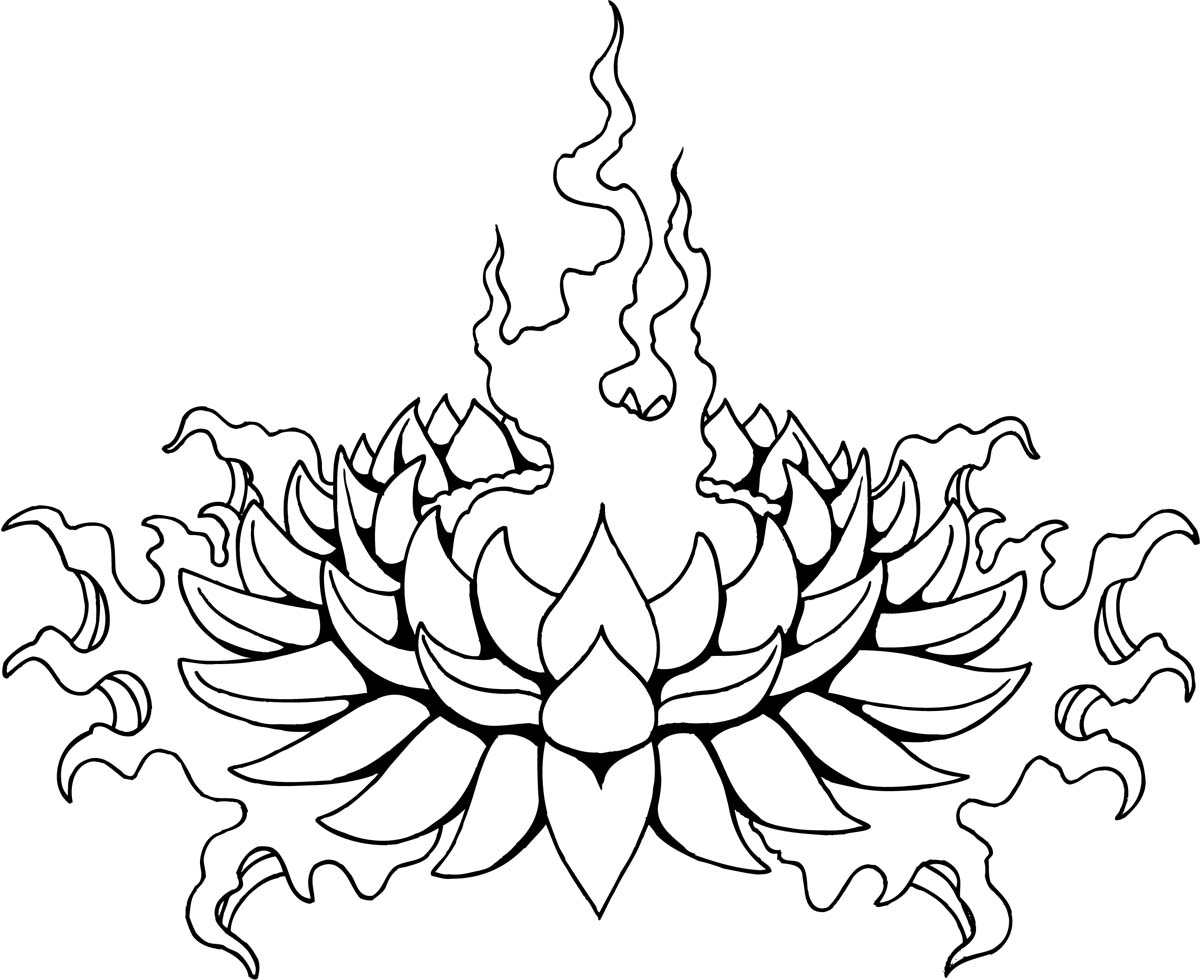 Tattoo Design Line Art : Lotus line drawing clipart best