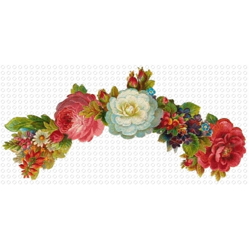 Mixed Floral Garland Victorian GIF Clip Art - ClipArt Best - ClipArt ...