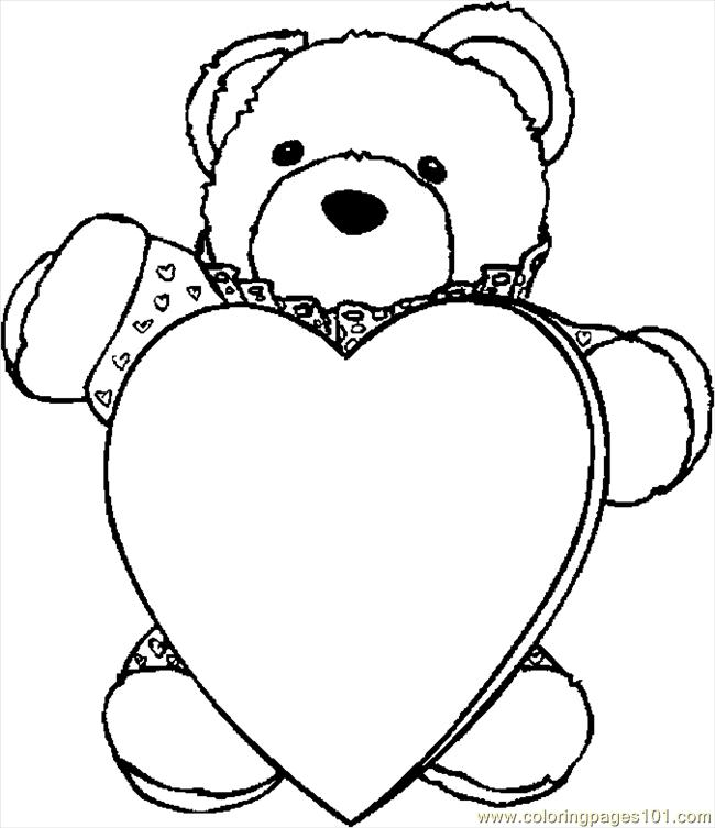 Free Heart Colouring Pages - ClipArt Best