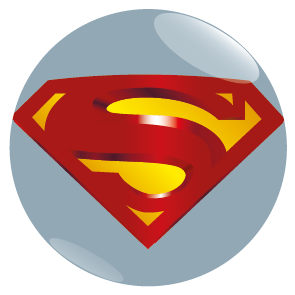 Occasions :: Mothers Day :: Superman Logo Button Badge -
