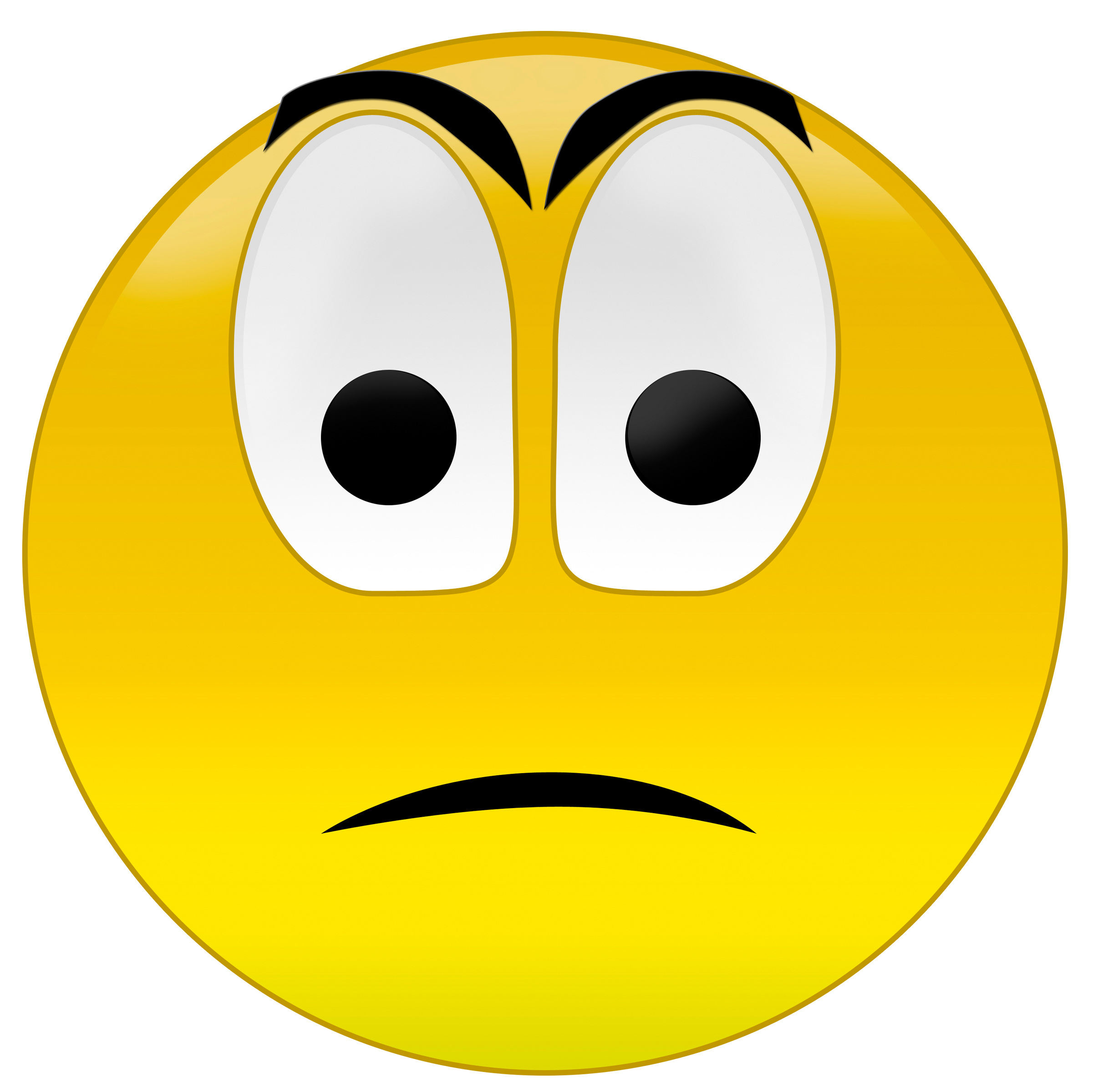 Disappointed Face Clipart Sad Face Emotic...