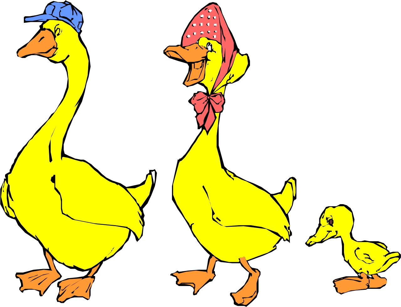 Ducklings clipart