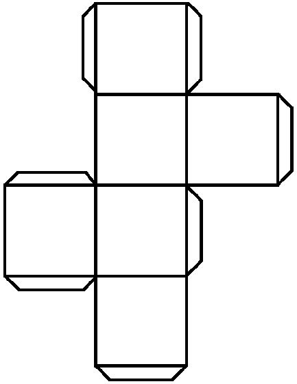 Template For A Cube Printable - ClipArt Best
