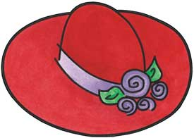 Re Hat Society Hats - ClipArt Best