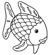 the rainbow fish pattern clipart best