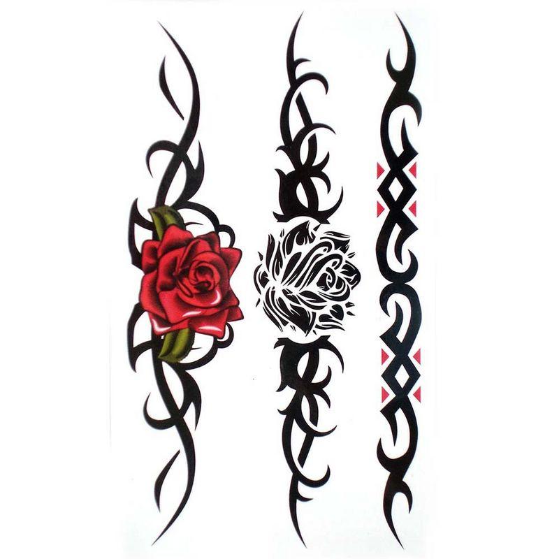 Эскизы тату узоры с розами