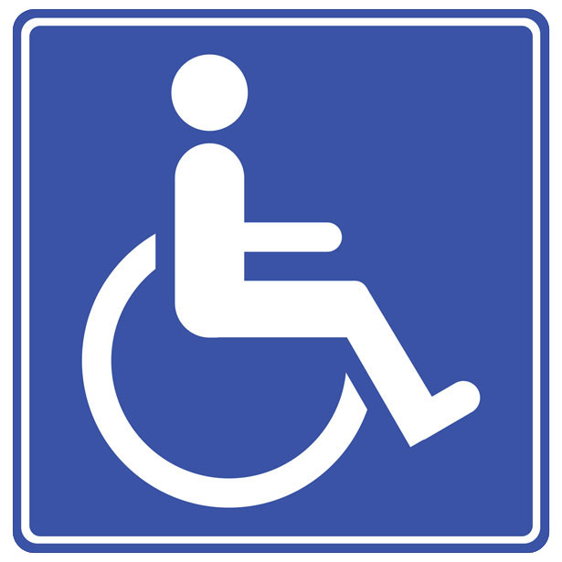 Nifty image for printable handicap signs