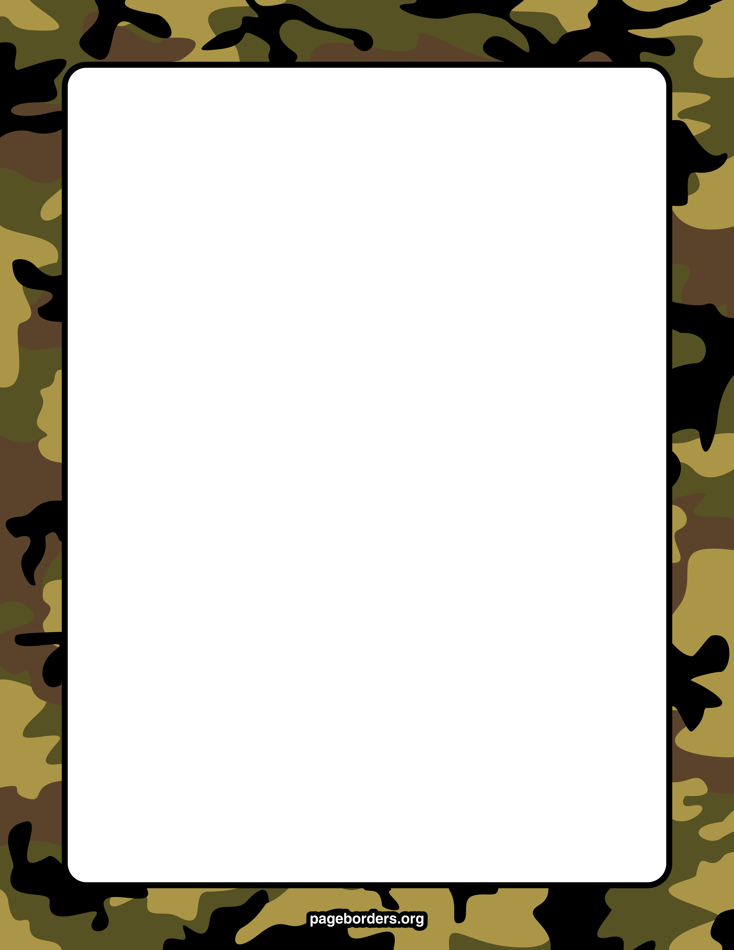 Camouflage Border For Word - ClipArt Best