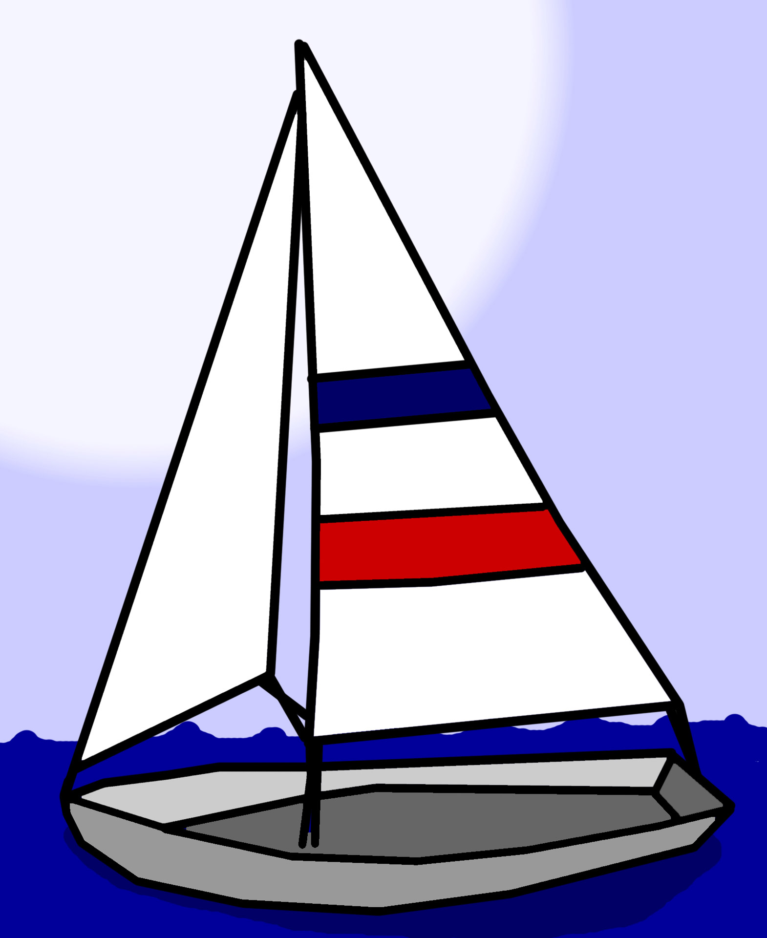 Cartoon Sail Boat - ClipArt Best