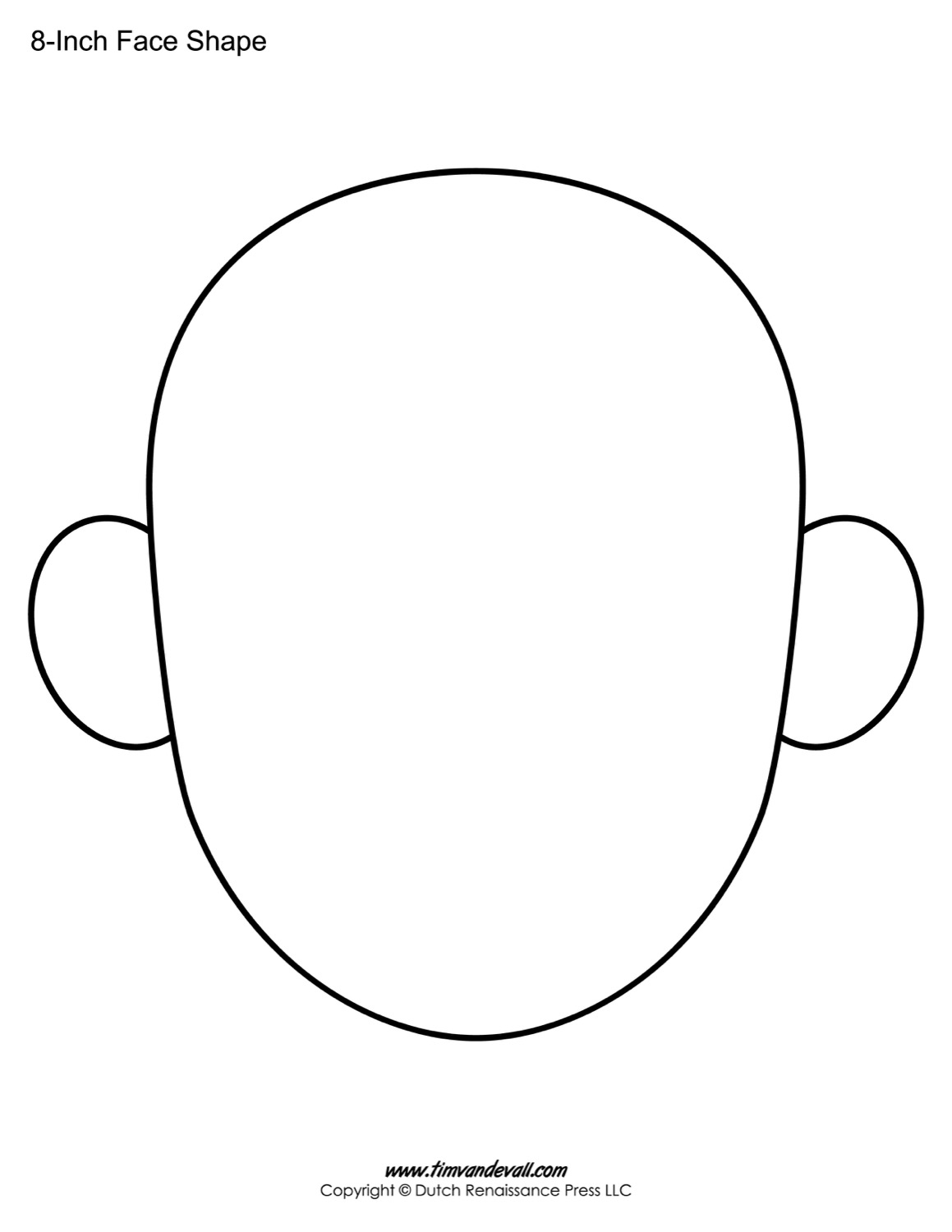Blank Faces Template Clipart Best