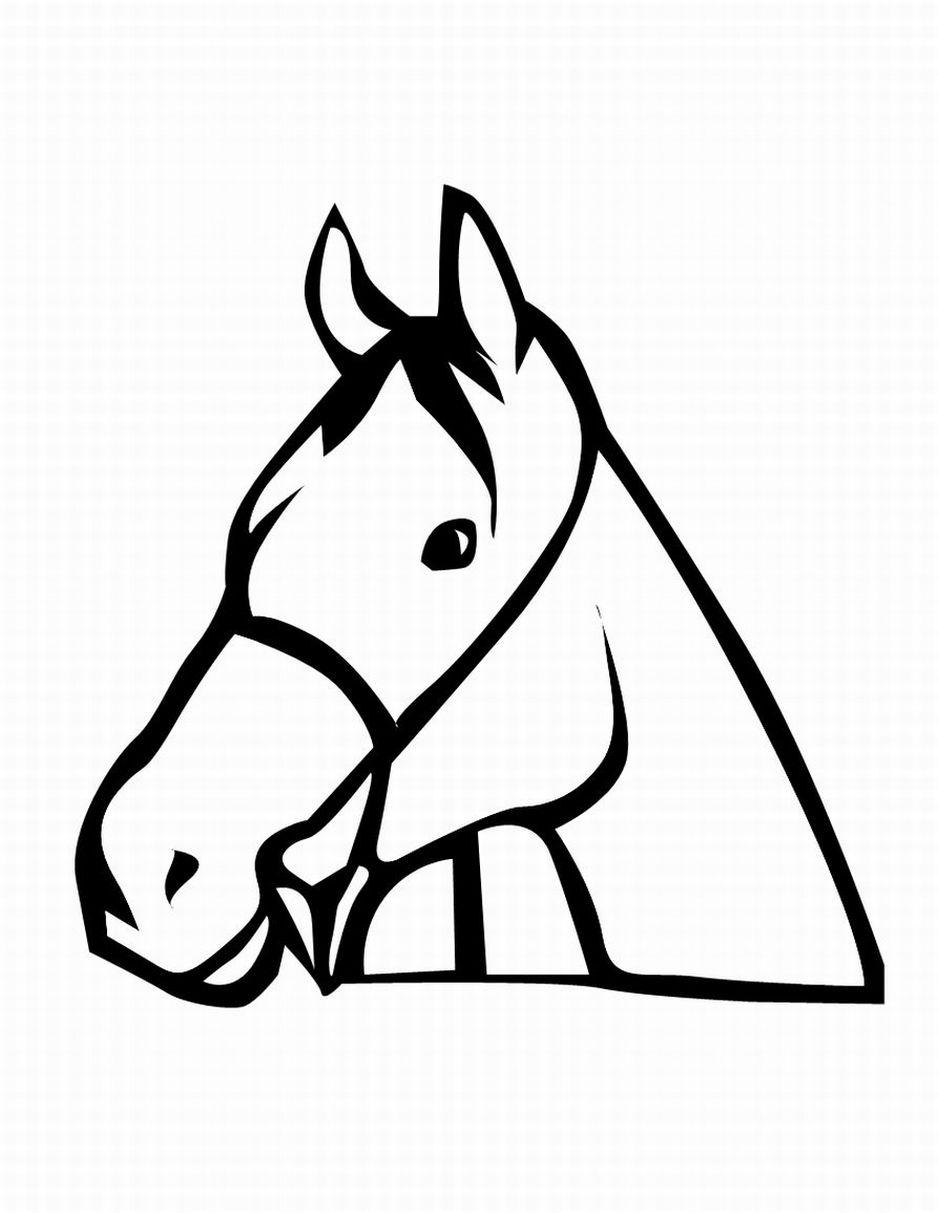 Horse head drawings clip art