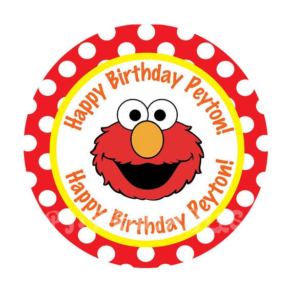Printable Elmo Cake Template