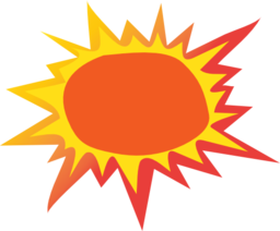 Hot Sun Clipart - Synkee