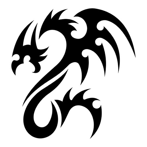 Black And White Dragon Tattoo ClipArt Best
