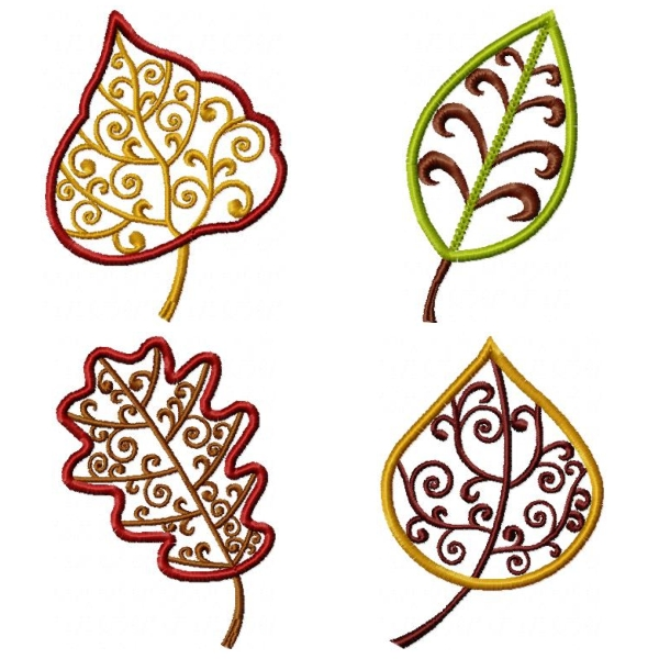 Corn Leaves Embroidery Design
