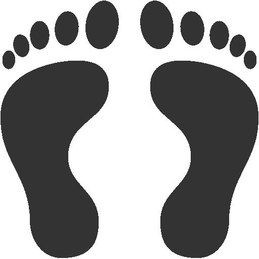 Tracks Footprints Human footprints Icon | Icons8 Metro ...