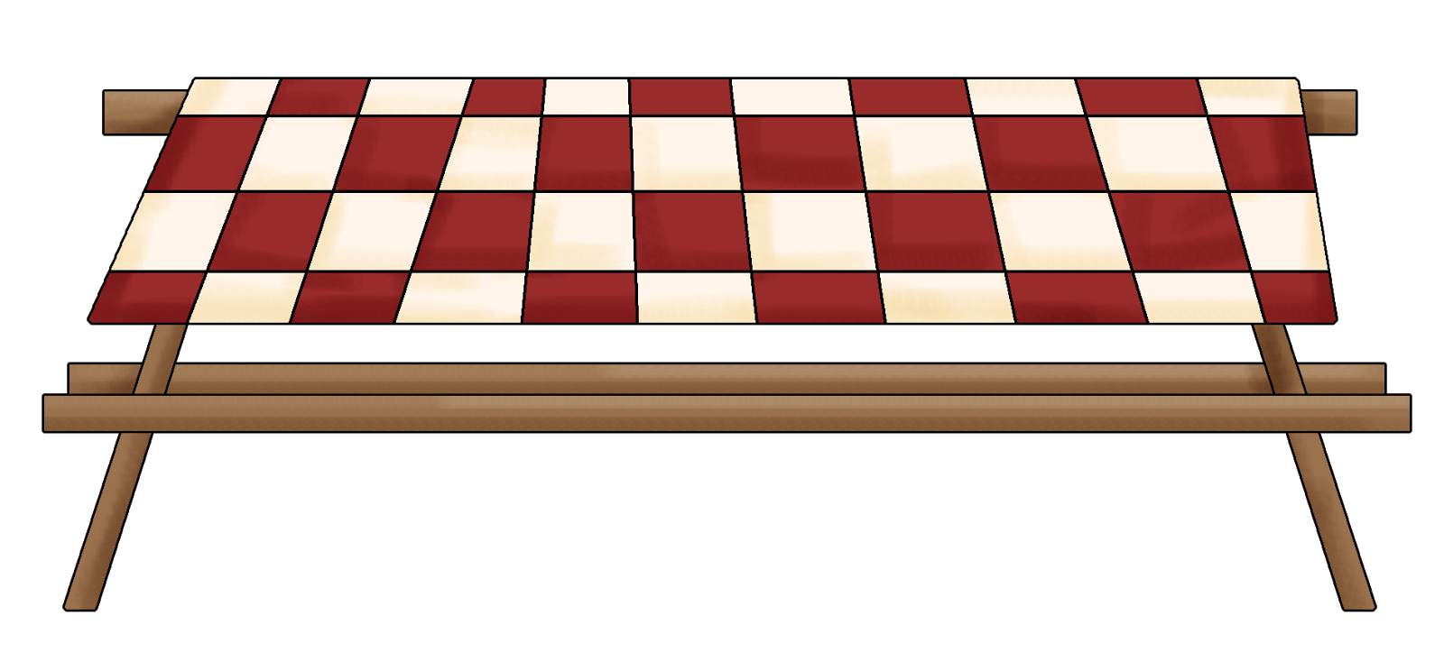 Picnic Table Clip Art Cartoon Picnic Table -...