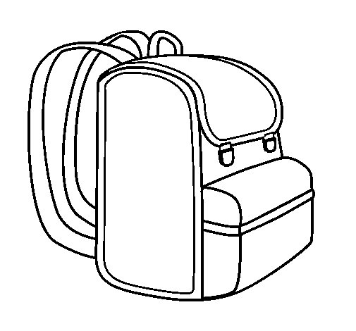 Backpack coloring page - Coloringcrew.com