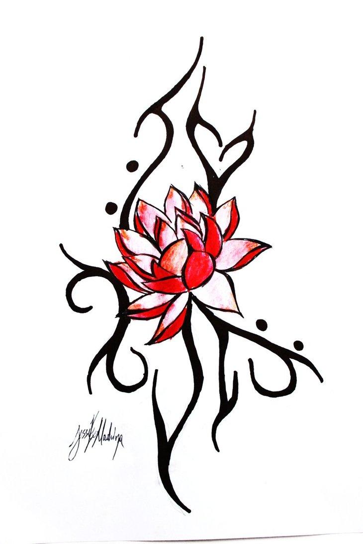 Lotus flowers drawings tattoos