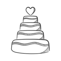 Black And White Wedding Cake Clip Art - ClipArt Best