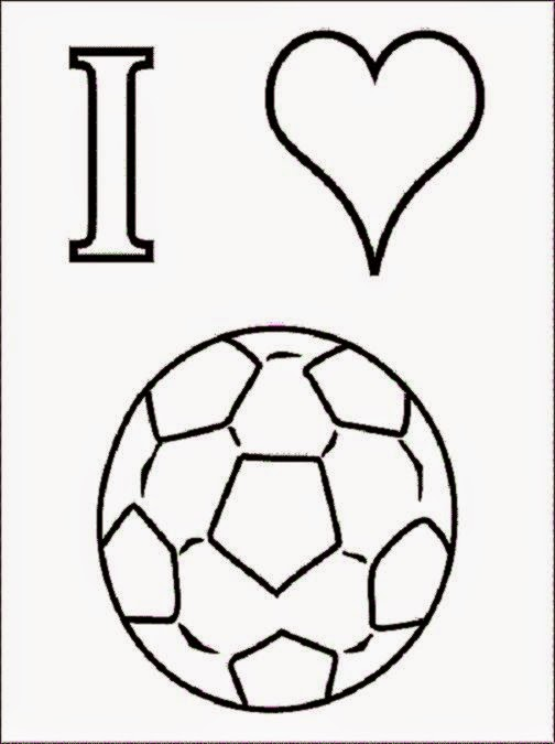 coloring picture of soccer field