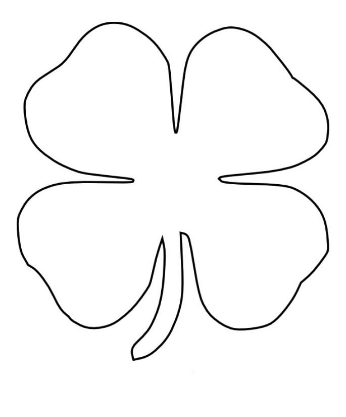 coloring pages 3 leaf clover - photo#40