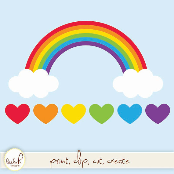 clipart rainbow with clouds - photo #12