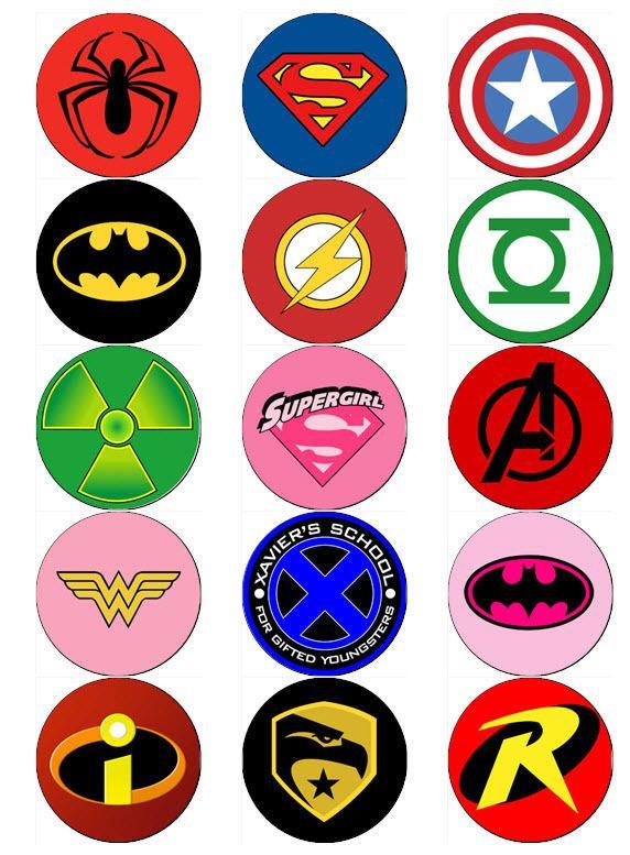 picture regarding Superhero Logos Printable referred to as SUPERHERO Symbol - ClipArt Excellent
