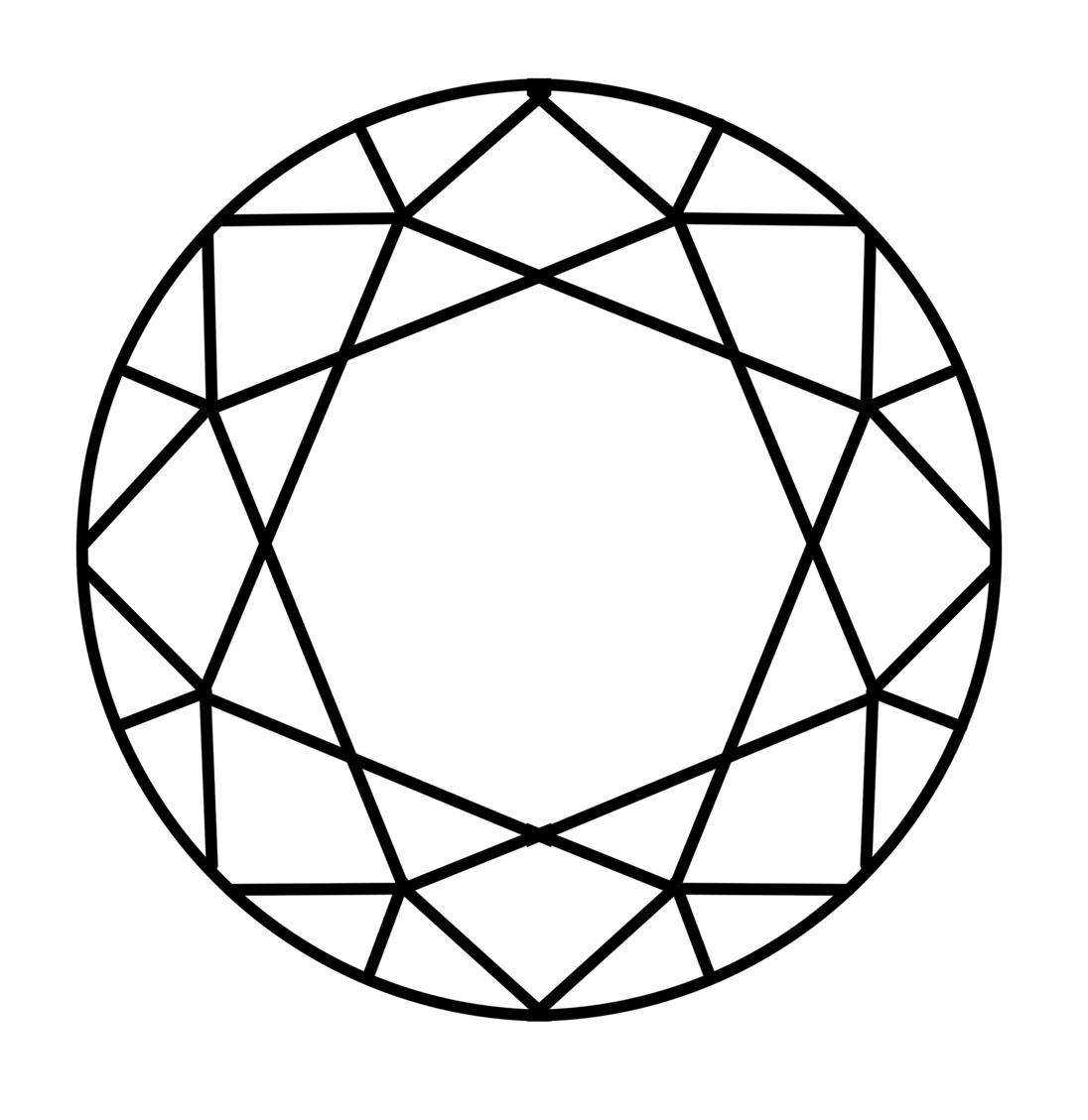 Diamond Outline Vector - ClipArt Best
