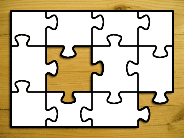 Jigsaw Puzzle Template Jigsaw Puzzle Cool