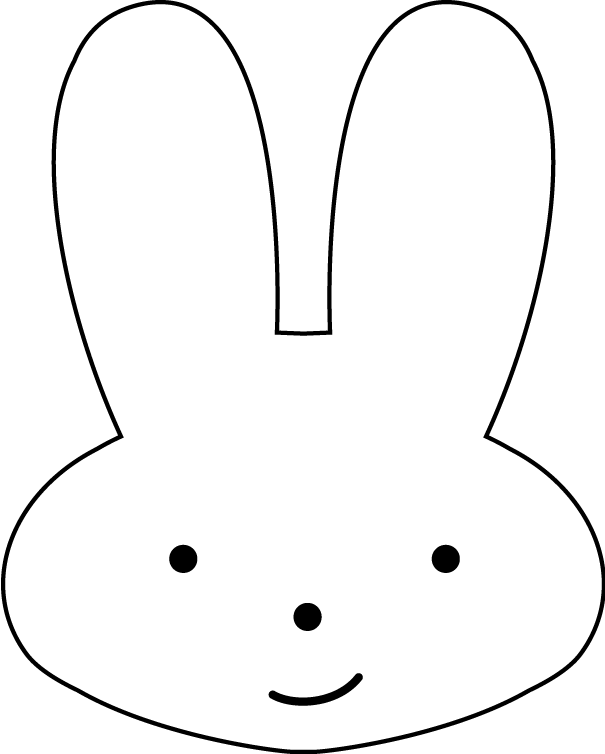 bunny face drawing clipart best Easter Egg Coloring Sheets  Bunny Face Coloring Sheet