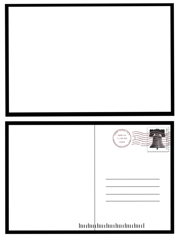 4 to a page postcard template - postcard template clipart best