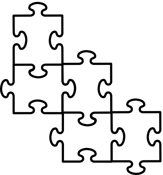 5 piece puzzle template clipart best for Large blank puzzle pieces template