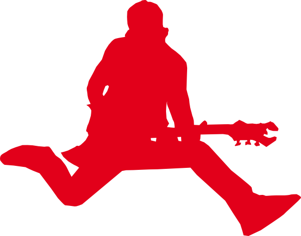 Rock Star With Guitar clip art - vector clip art online, royalty ...
