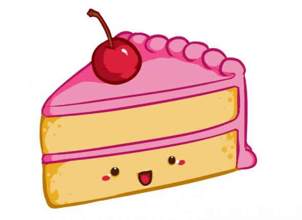 Drawing a Kawaii Cute Cake Slice - ClipArt Best - ClipArt Best