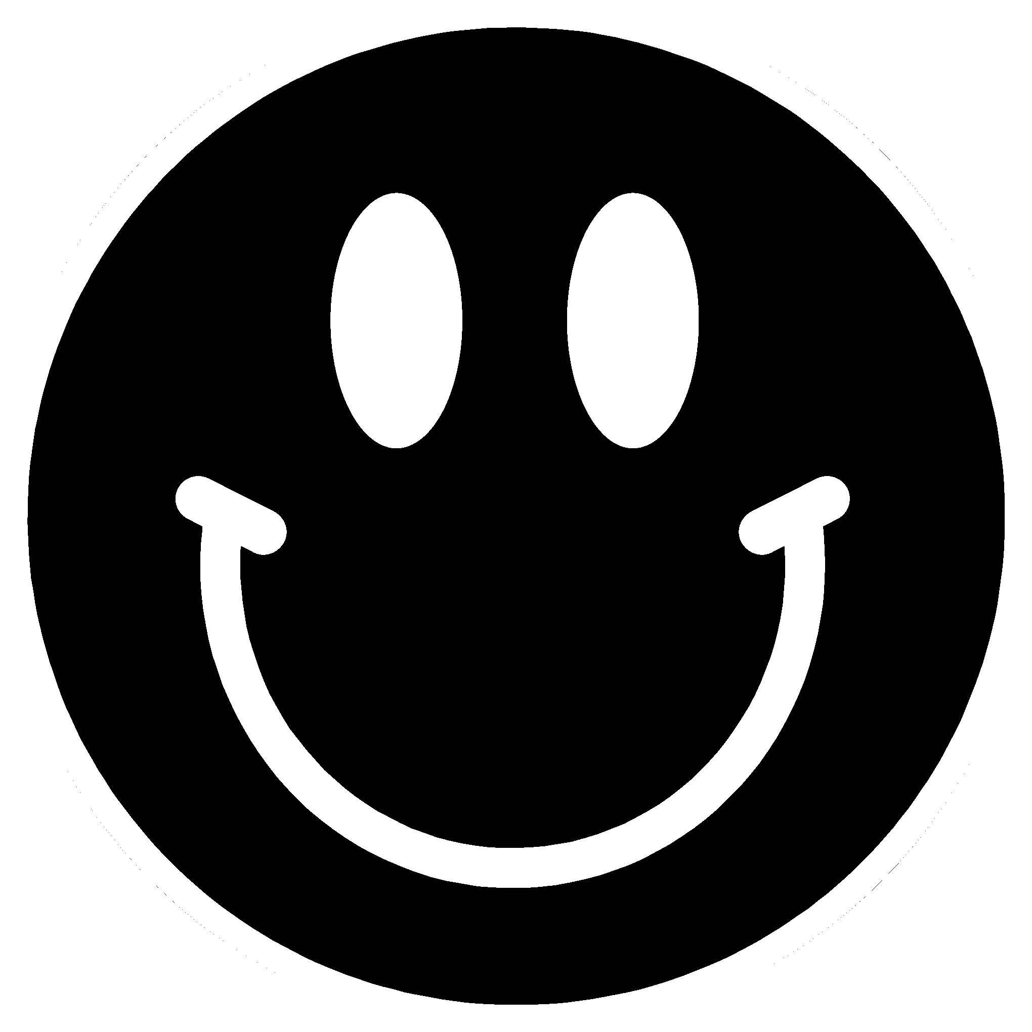 Smiley Face Black Background - ClipArt Best