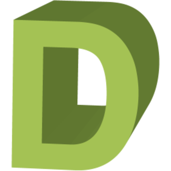 Letter D Icon image - vector clip art online, royalty free ...